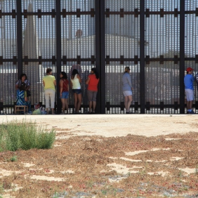 Visitors at Friendship Park along the U.S.-Mexico border