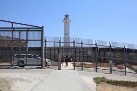 Lighthouse and bullfighting ring in Tijuana