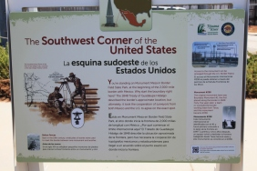 Plaque marking the Southwestern corner of the U.S.