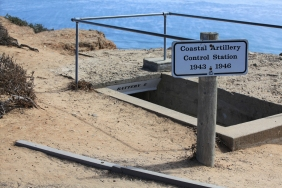 Battery E is one of the coastal artillery control stations along Point Loma used in World War II.