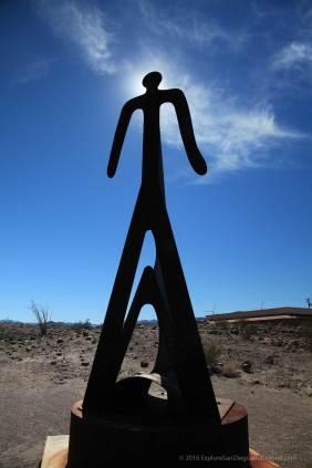 Metal sculpture at IVDM