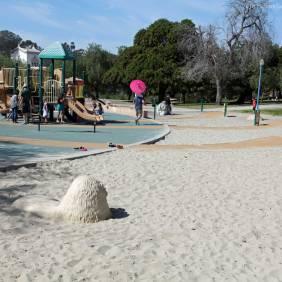 Pepper Grove Playground sandbox