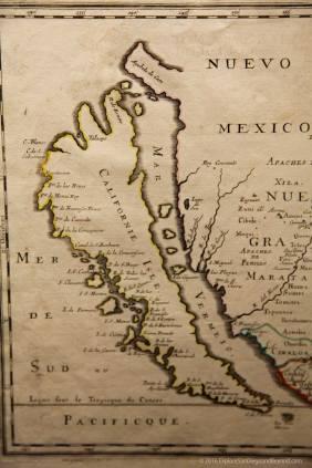 California shown as an island