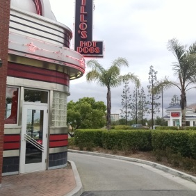 Drive-thru lane at Portillo's Moreno Valley. (No palm trees at the Chicago locations!)