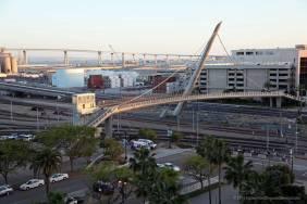 View of the pedestrian and Coronado bridges