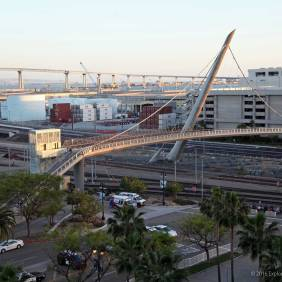 View of the pedestrian and Coronado bridges