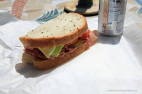 Half a Ham & Swiss on Rye