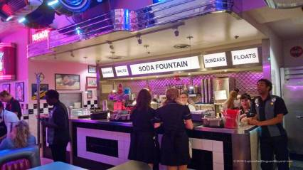 Soda fountain at Corvette Diner