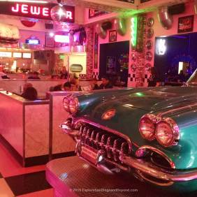 Entrance to Corvette Diner
