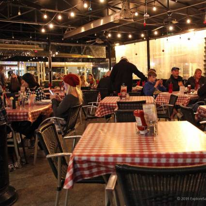 Enclosed patio dining