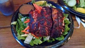 Blackened Red Snapper salad