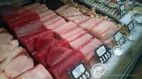 Fish market counter