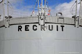 USS Recruit stern