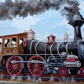 California Southern R.R. Locomotive Mural